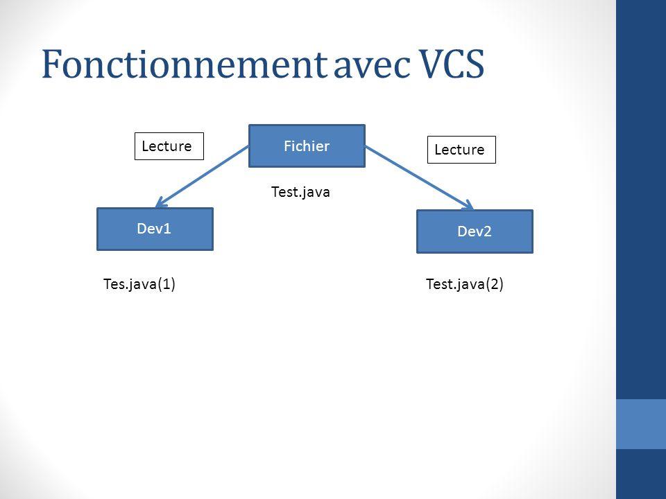 Fonctionnement avec VCS