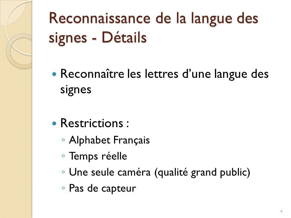Reconnaissance de la langue des signes - Détails