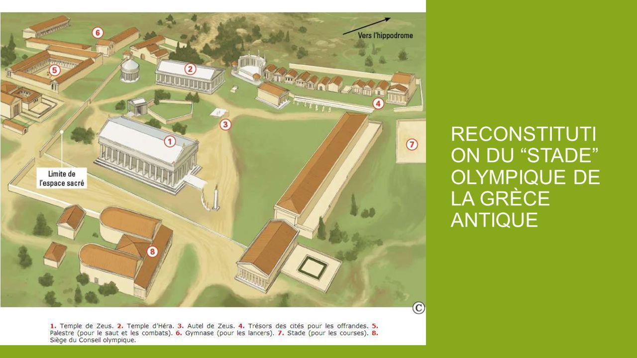 Reconstitution du stade olympique de la Grèce antique
