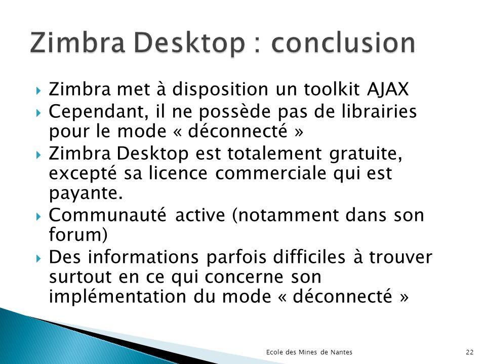 Zimbra Desktop : conclusion