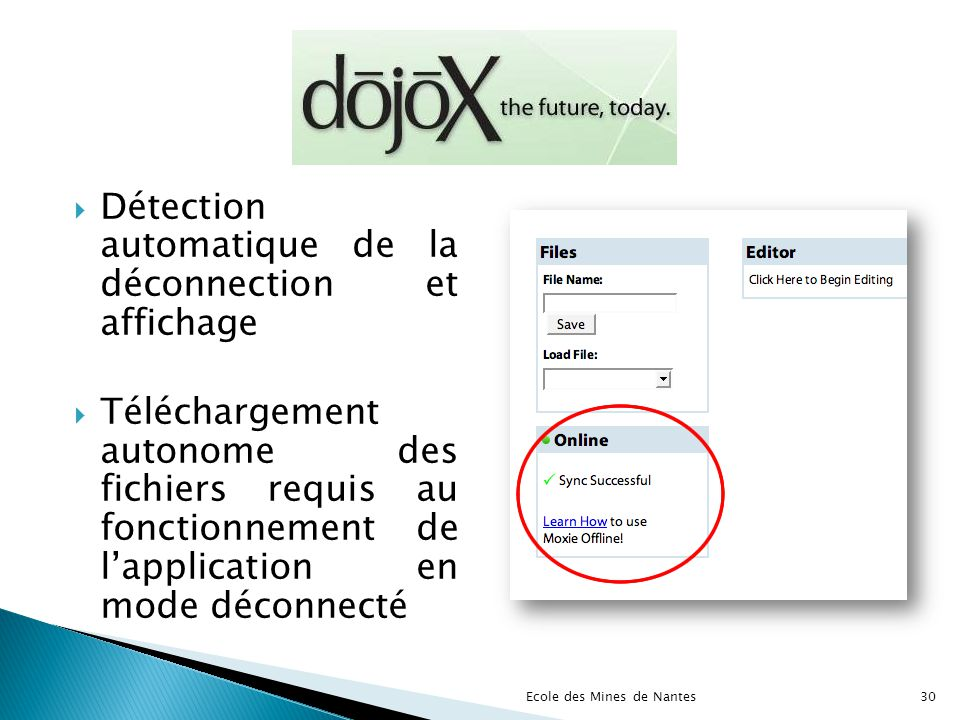 Détection automatique de la déconnection et affichage