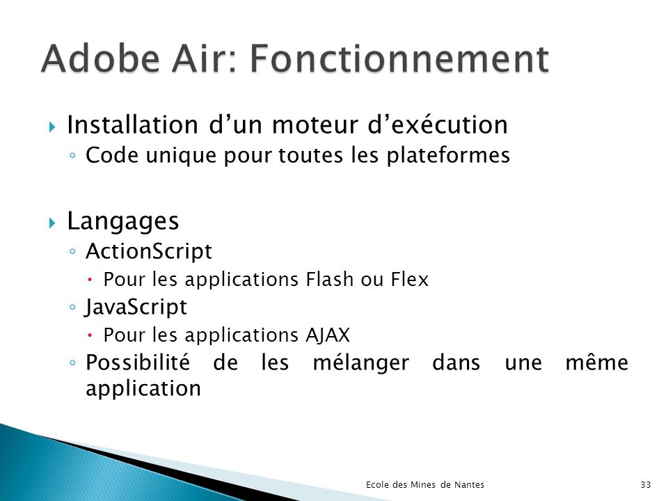 Adobe Air: Fonctionnement