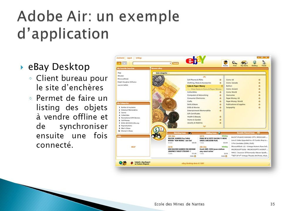 Adobe Air: un exemple d'application