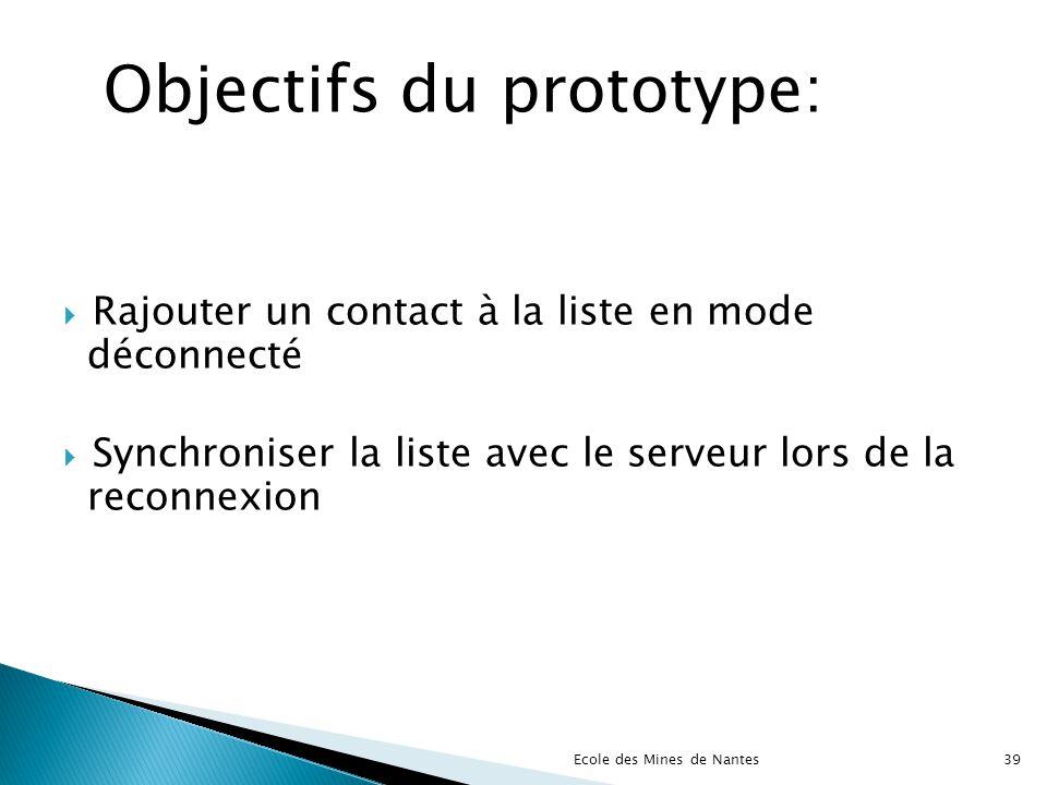 Objectifs du prototype:
