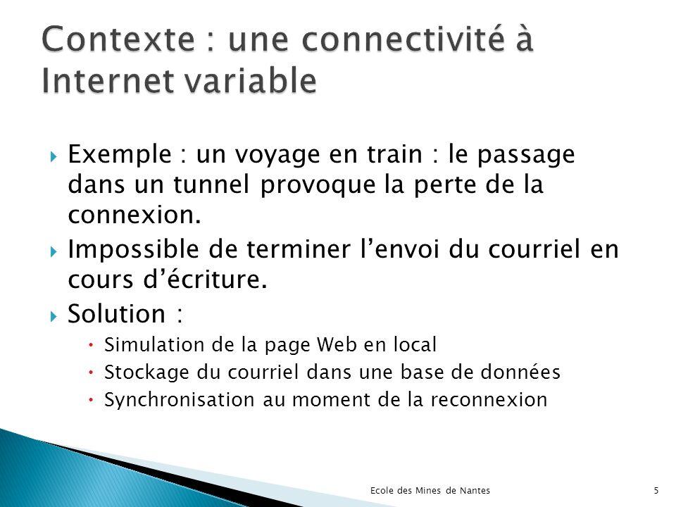 Contexte : une connectivité à Internet variable