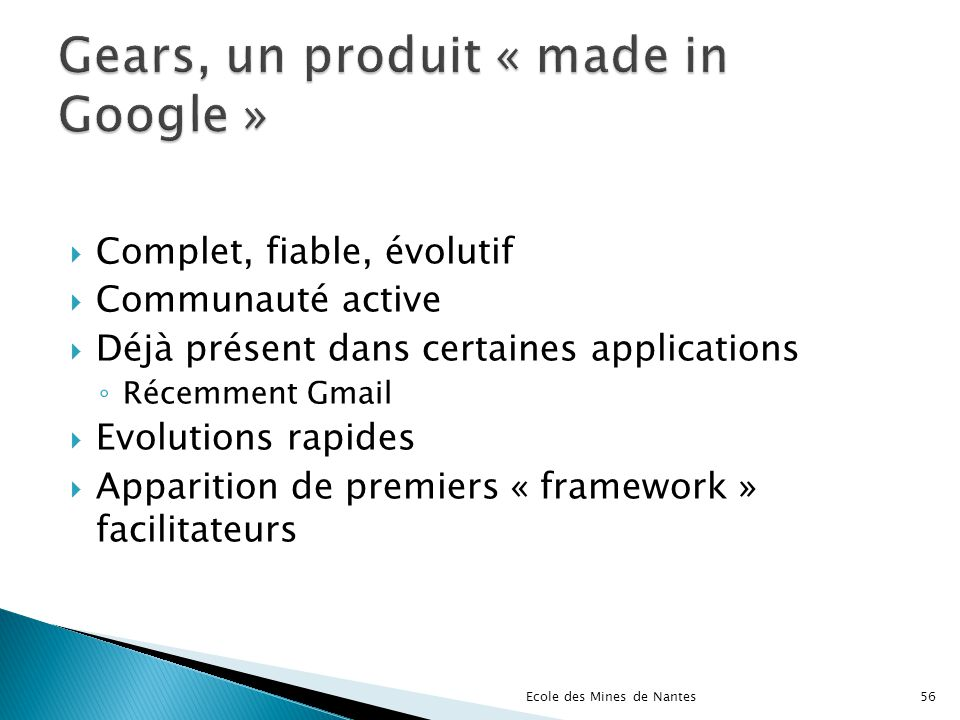 Gears, un produit « made in Google »