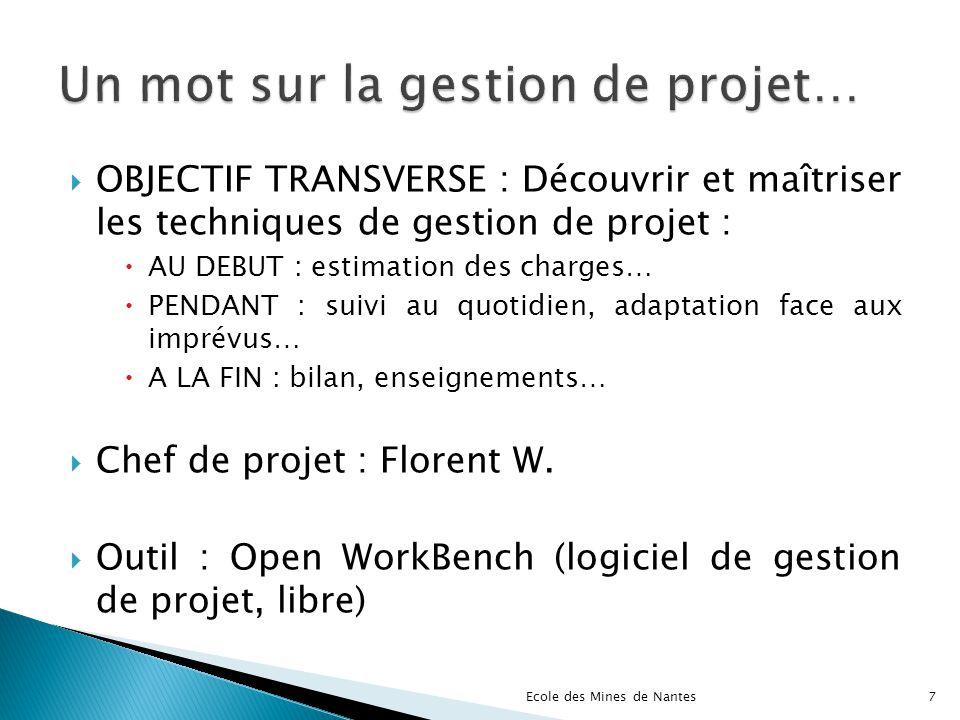 Un mot sur la gestion de projet…