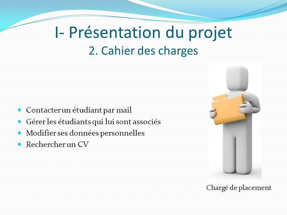 I- Présentation du projet 2. Cahier des charges