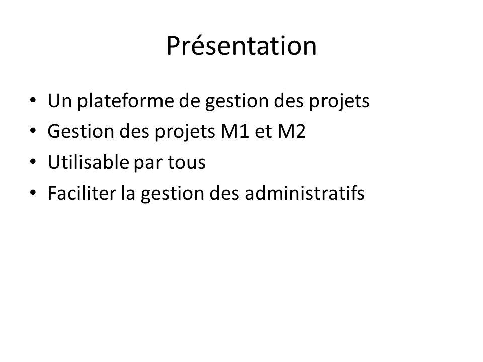Présentation Un plateforme de gestion des projets