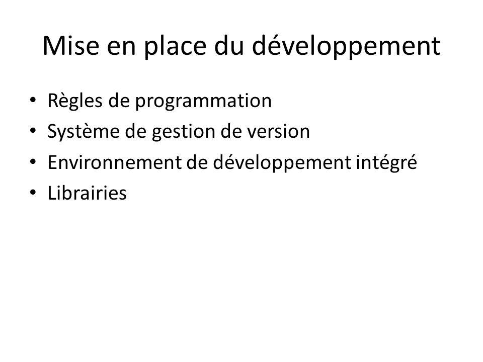 Mise en place du développement