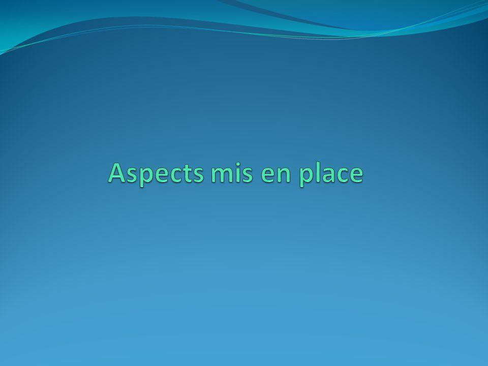 Aspects mis en place