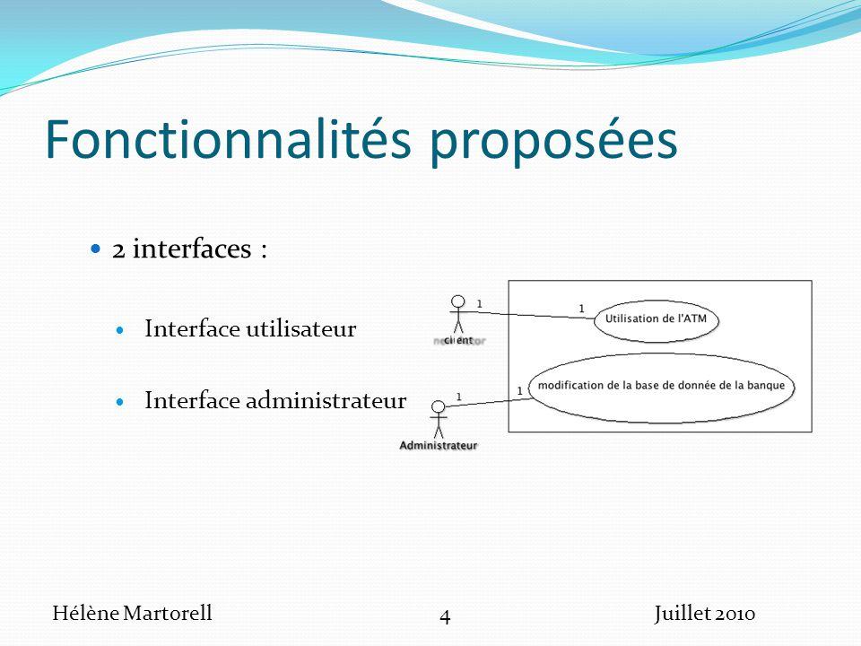 Fonctionnalités proposées