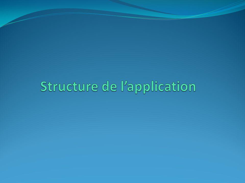 Structure de l'application