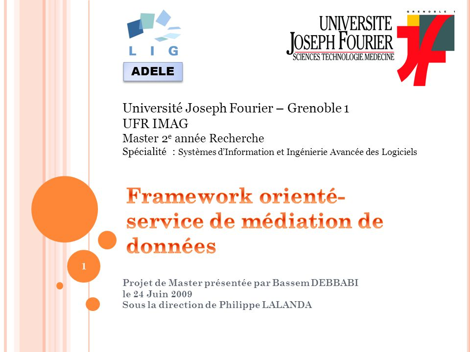 Framework orienté-service de médiation de données