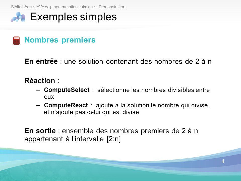 Exemples simples Nombres premiers