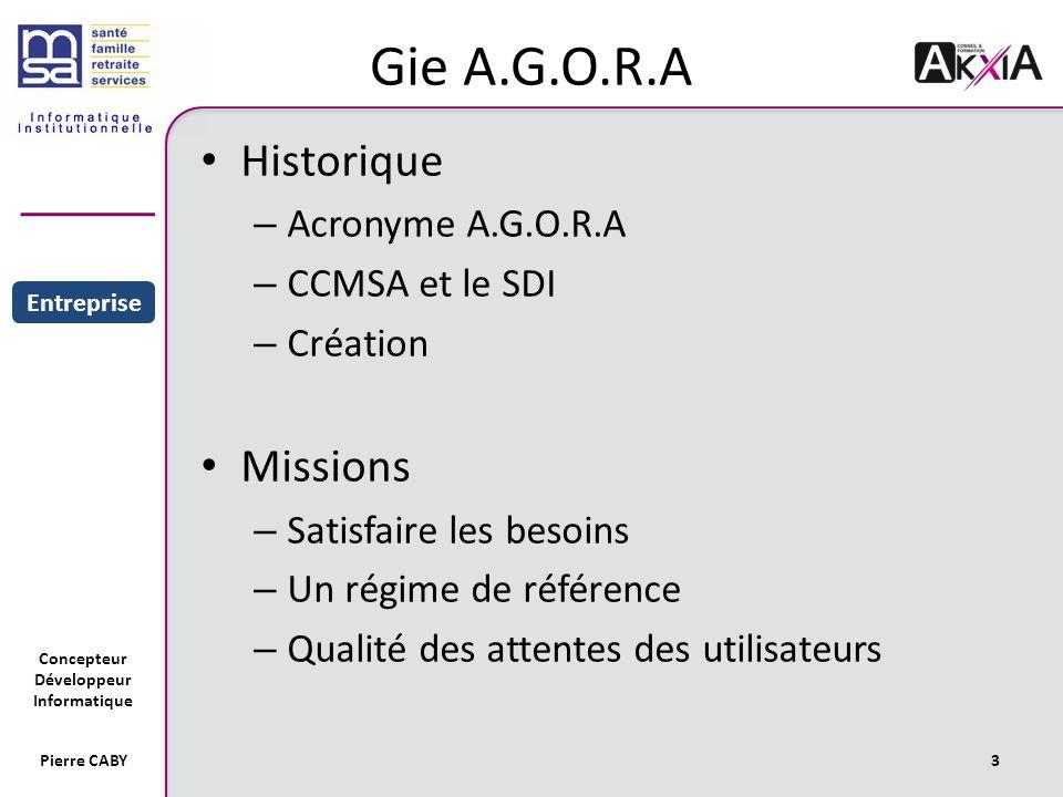 Gie A.G.O.R.A Historique Missions Acronyme A.G.O.R.A CCMSA et le SDI