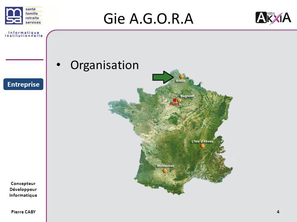 Gie A.G.O.R.A Organisation Sommaire Entreprise Projet Pierre CABY