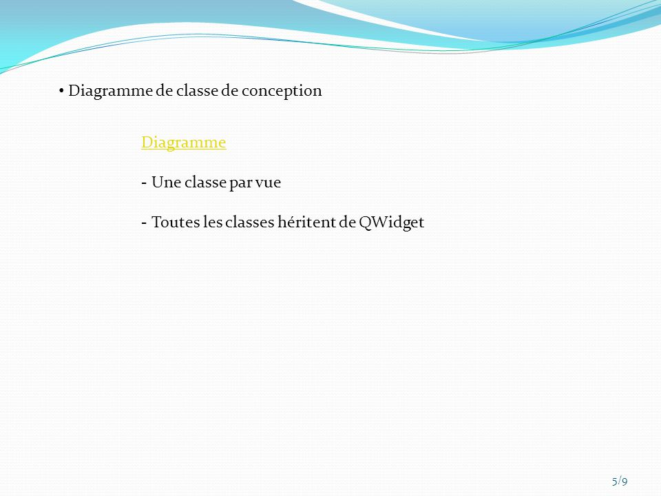 Diagramme de classe de conception