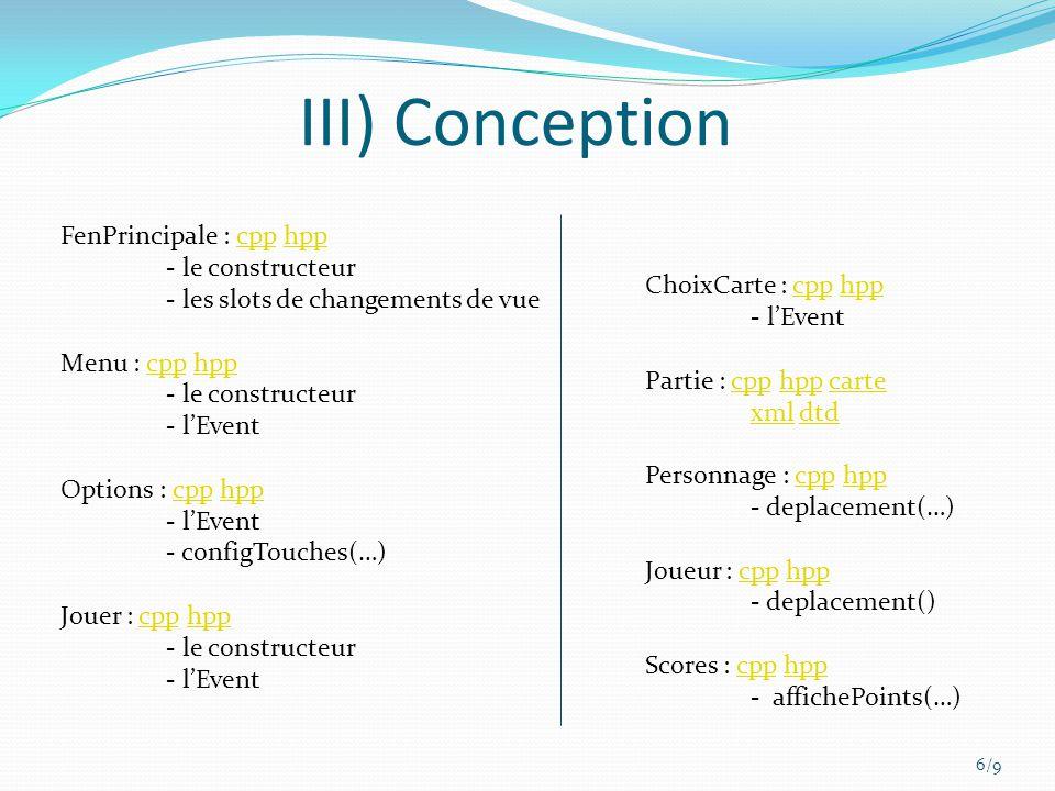 III) Conception FenPrincipale : cpp hpp - le constructeur