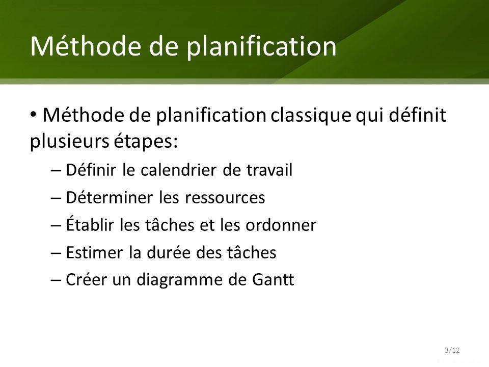 Méthode de planification