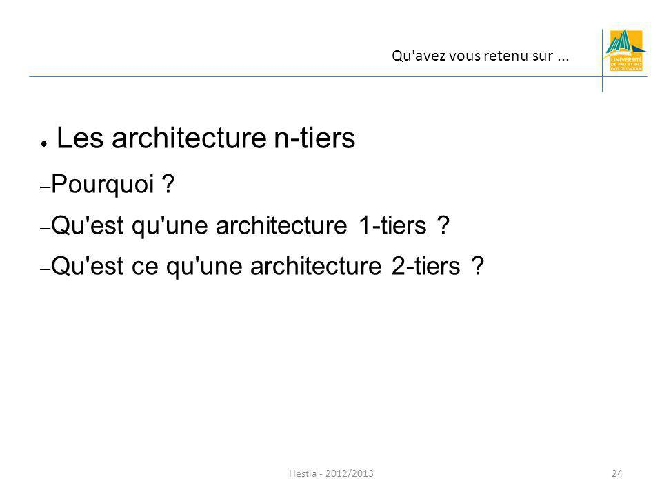 Les architecture n-tiers
