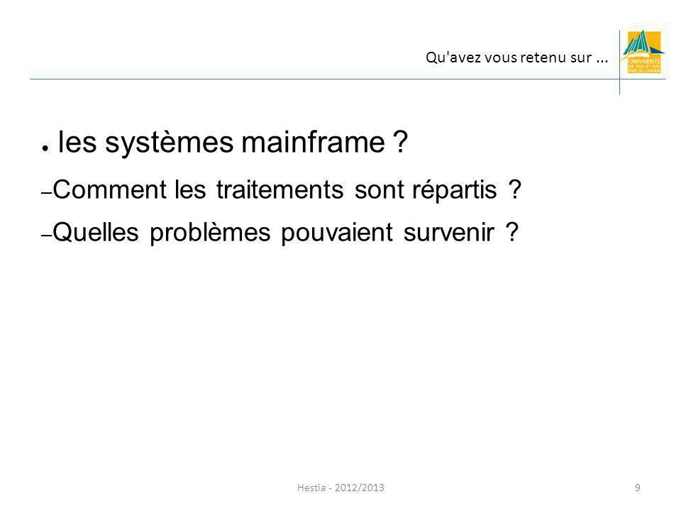 les systèmes mainframe
