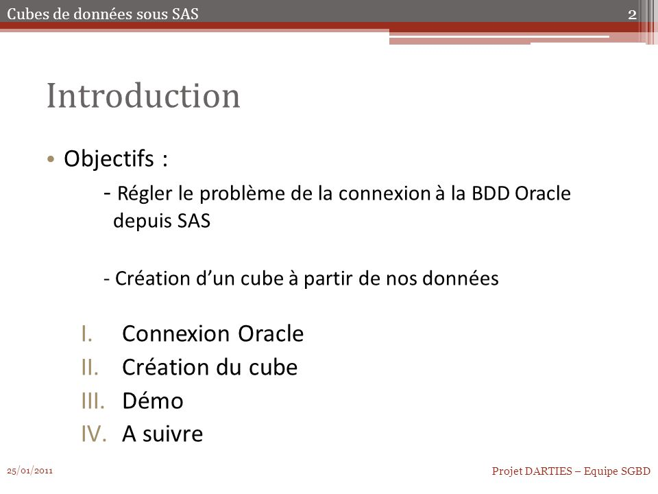 Introduction Objectifs :