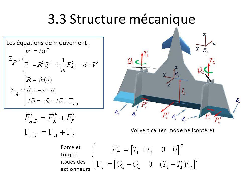 3.3 Structure mécanique Les équations de mouvement :