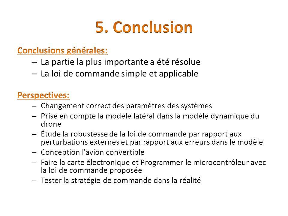5. Conclusion Conclusions générales:
