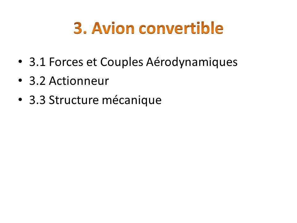 3. Avion convertible 3.1 Forces et Couples Aérodynamiques