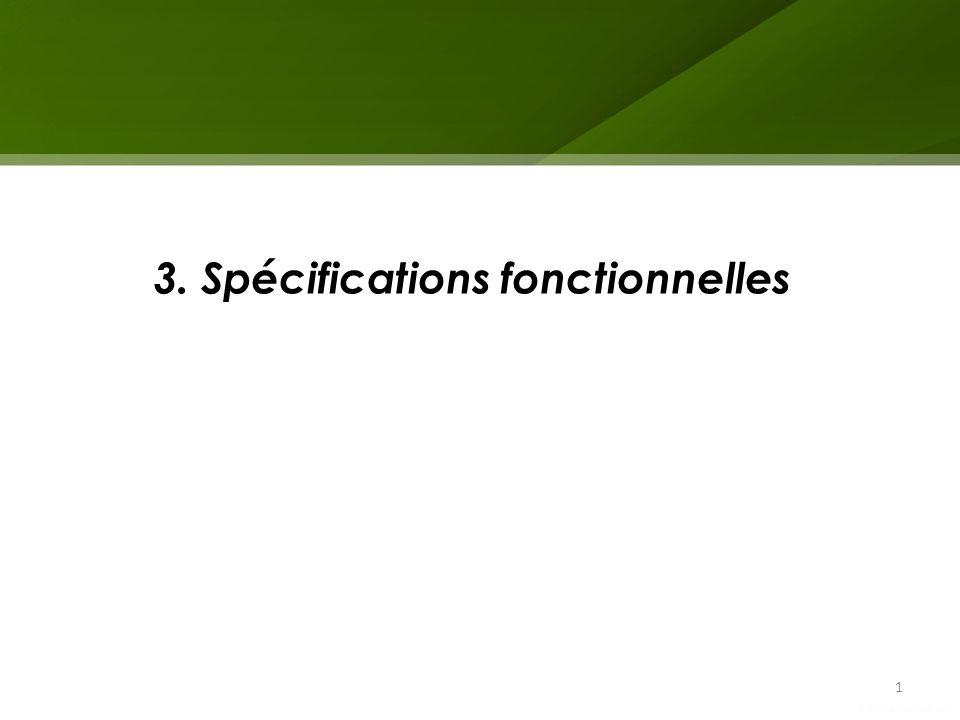 3. Spécifications fonctionnelles