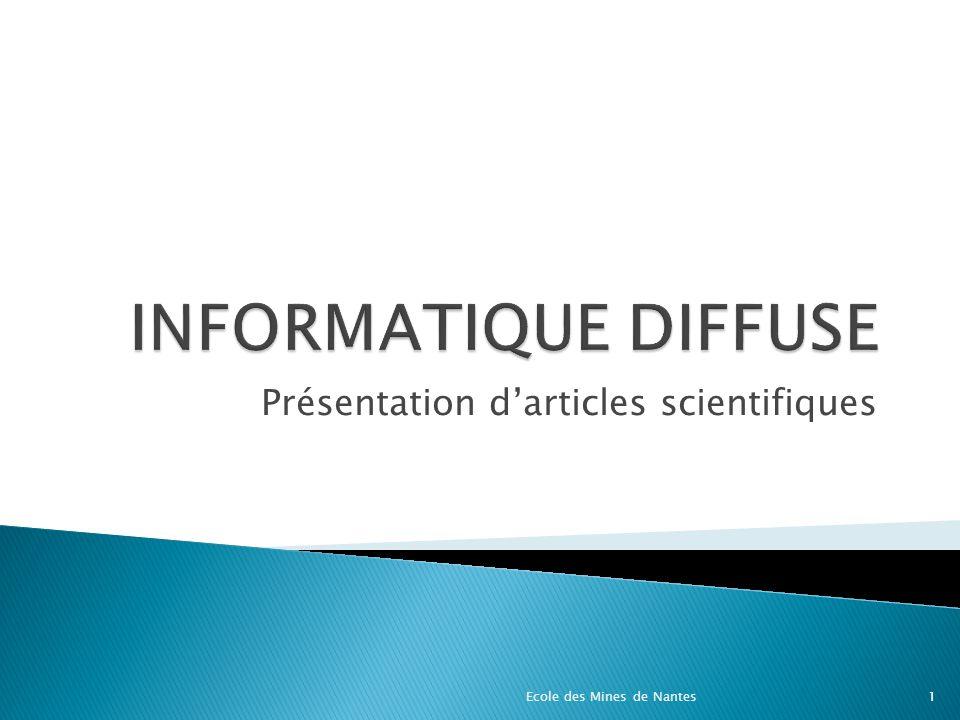 Présentation d'articles scientifiques
