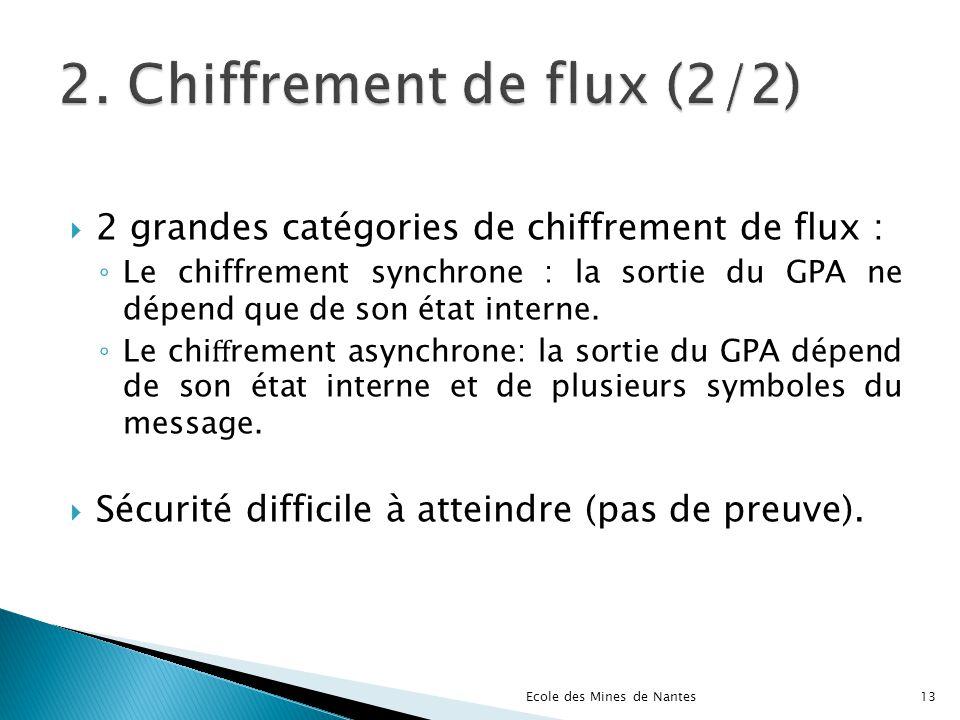 2. Chiffrement de flux (2/2)