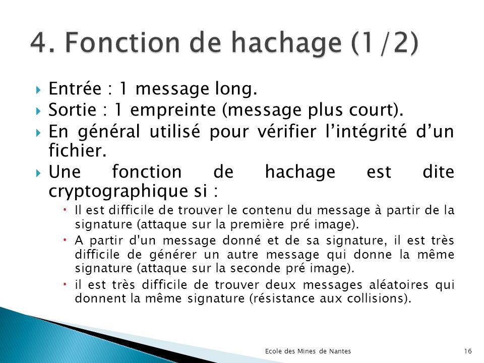 4. Fonction de hachage (1/2)