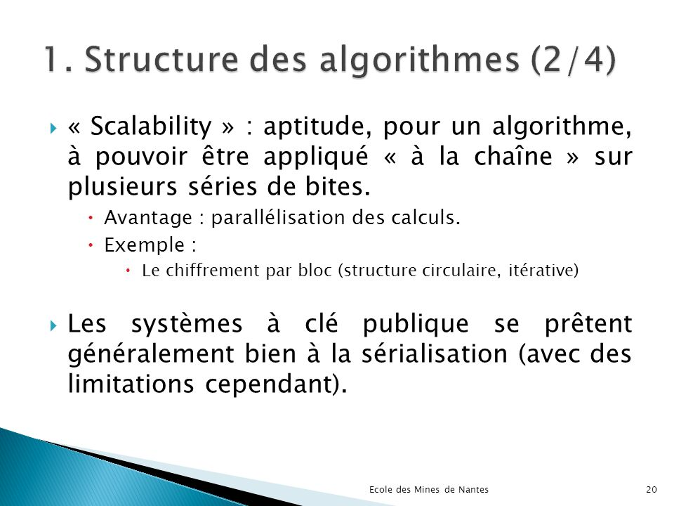 1. Structure des algorithmes (2/4)