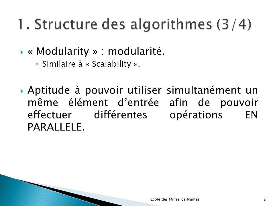 1. Structure des algorithmes (3/4)