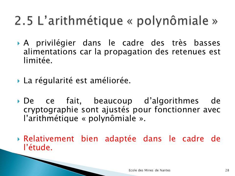 2.5 L'arithmétique « polynômiale »