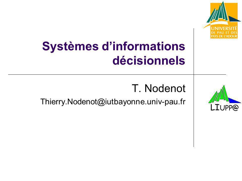 Systèmes d'informations décisionnels