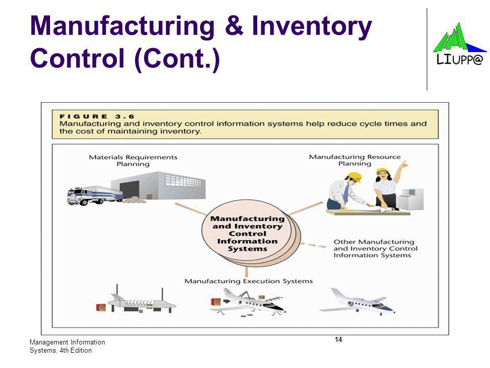 Manufacturing & Inventory Control (Cont.)