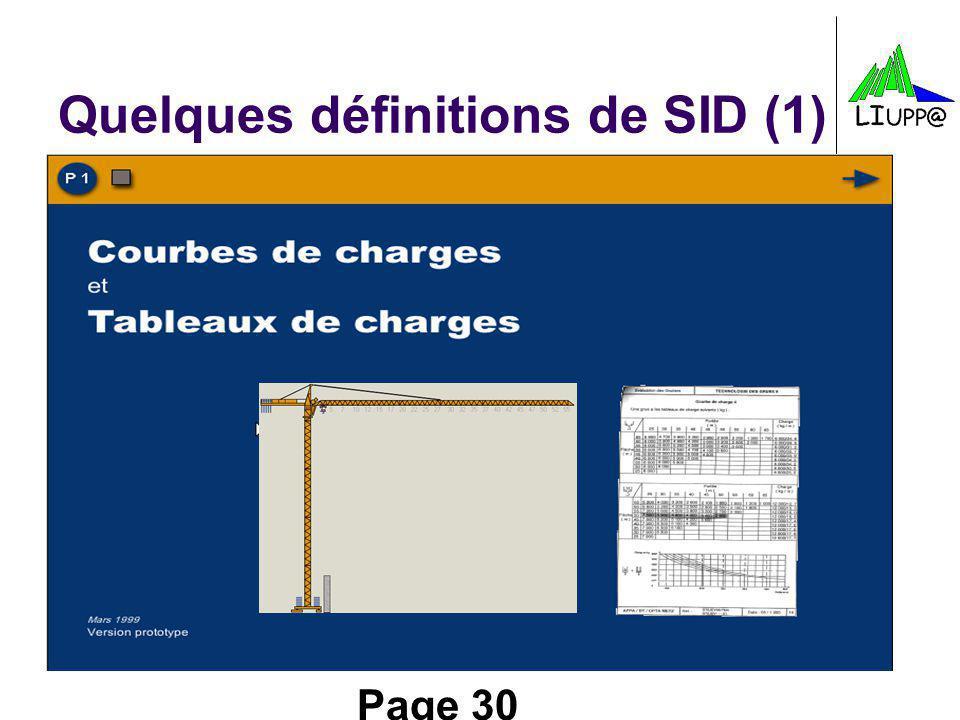 Quelques définitions de SID (1)