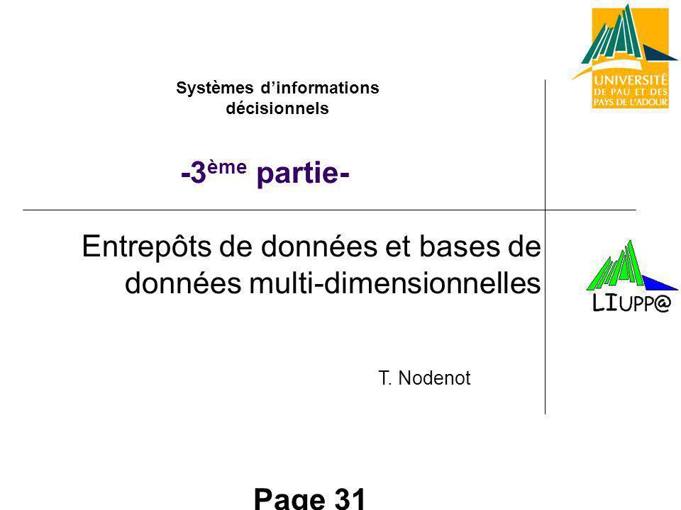 Entrepôts de données et bases de données multi-dimensionnelles