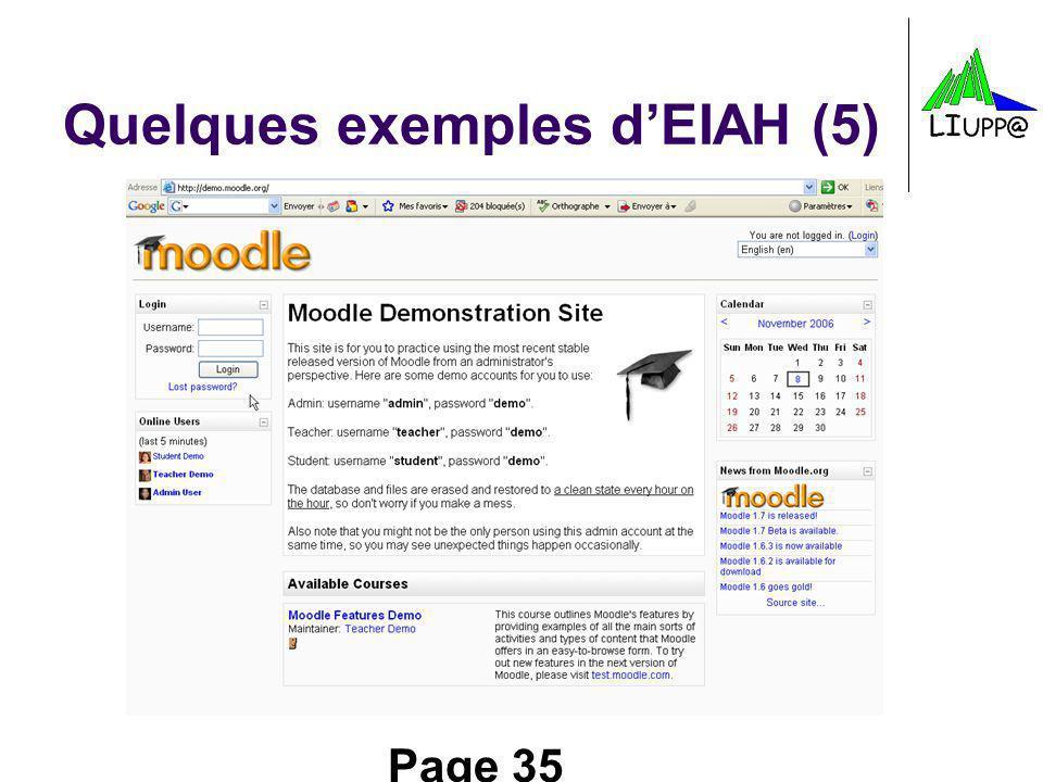 Quelques exemples d'EIAH (5)