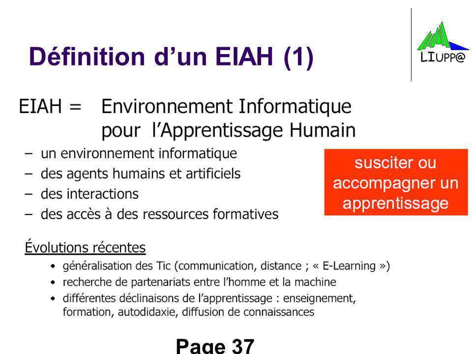 Définition d'un EIAH (1)