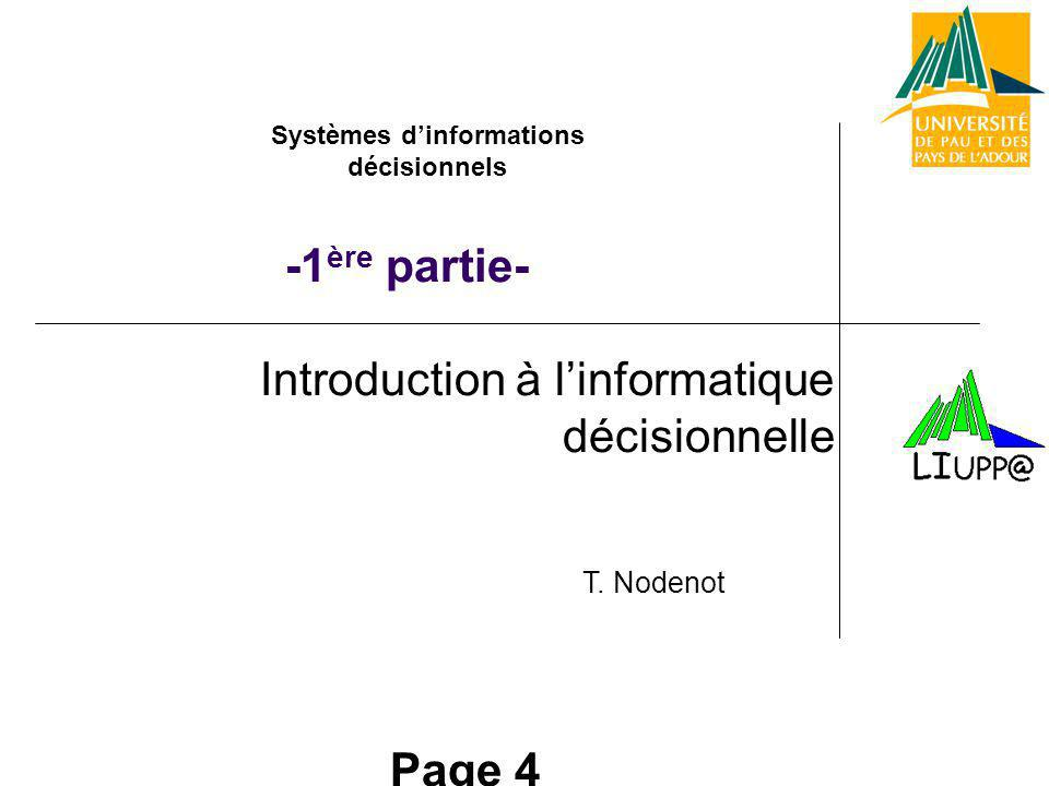 Introduction à l'informatique décisionnelle