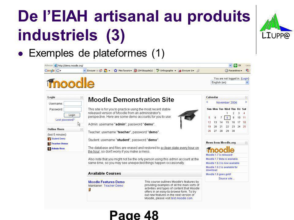 De l'EIAH artisanal au produits industriels (3)