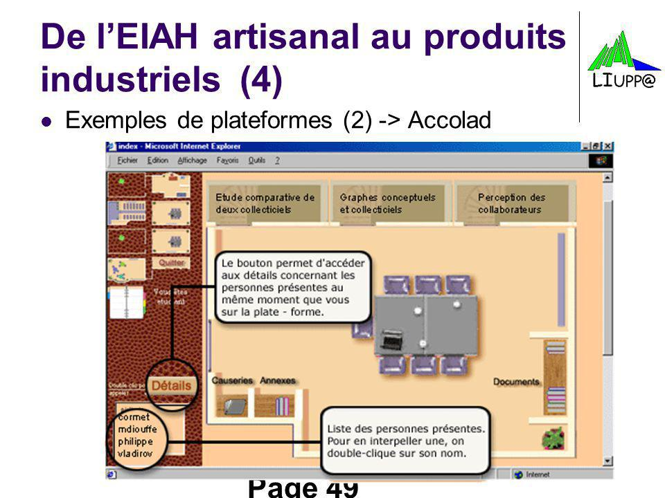 De l'EIAH artisanal au produits industriels (4)