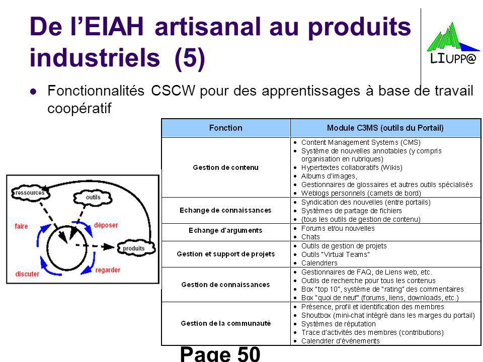 De l'EIAH artisanal au produits industriels (5)
