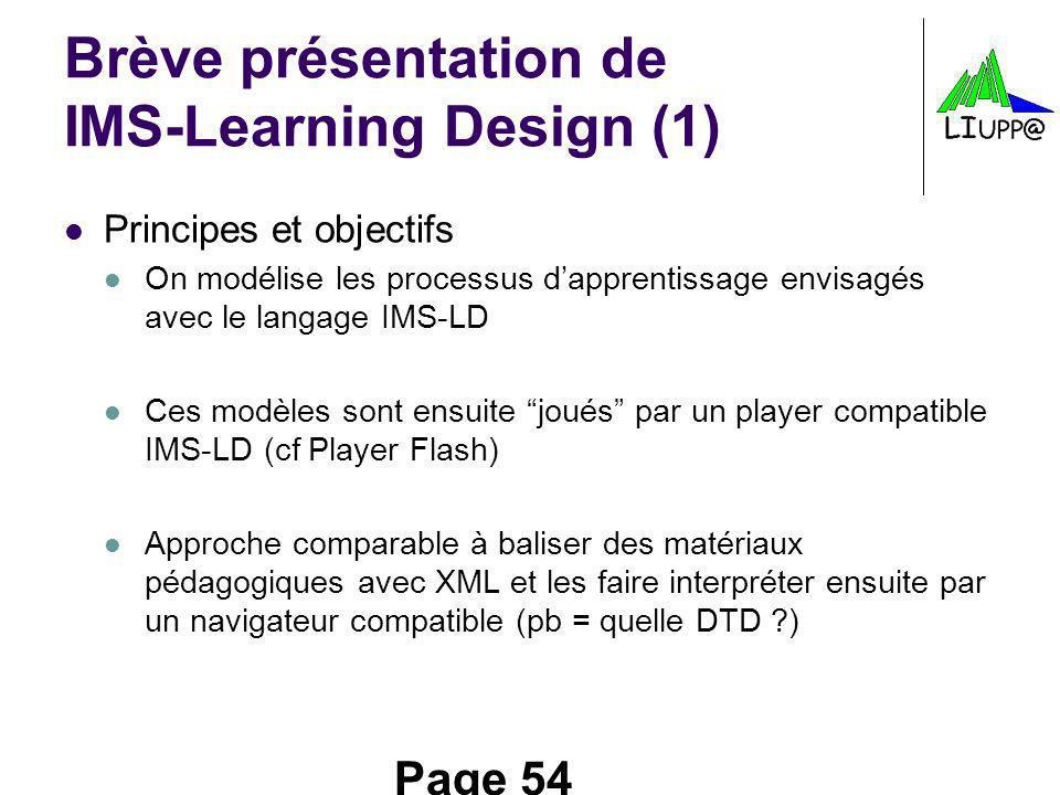 Brève présentation de IMS-Learning Design (1)