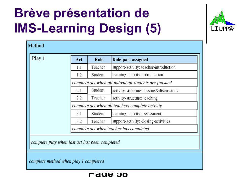 Brève présentation de IMS-Learning Design (5)
