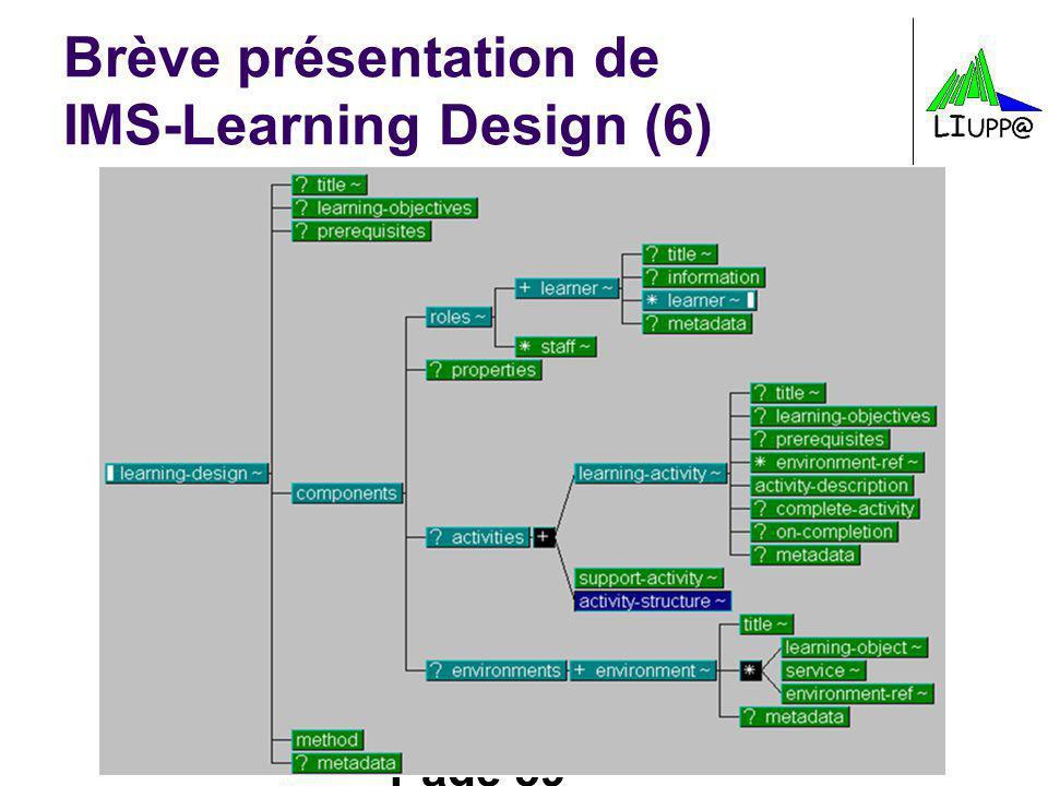 Brève présentation de IMS-Learning Design (6)